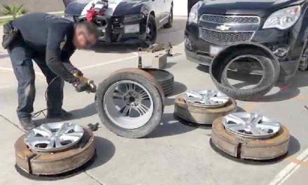 ¡En San Luis Potosí, Policía Federal localiza más de 60 kilos de droga en las llantas de un vehículo!