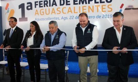 ¡Más de mil plazas laborales se ofertaron en la Primera Feria de Empleo Aguascalientes 2019!