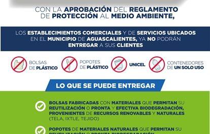 ¡Municipio de Aguascalientes promueve disminución en uso de bolsas de plástico, popotes y unicel!