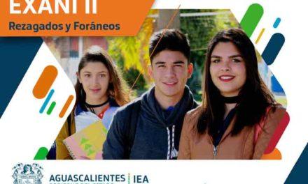 ¡Convoca IEA a alumnos rezagados y foráneos a presentar EXANI II 2019 como requisito de ingreso a Educación Superior en Aguascalientes!