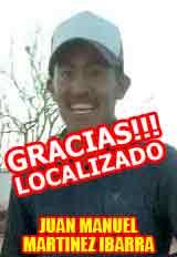 SERVICIO SOCIAL: Gracias a todos, Juan Manuel, originario de Calera, ya fue localizado