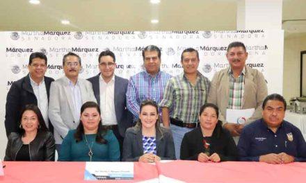 ¡Estrecha Martha Márquez lazos de colaboración con alcaldes de Aguascalientes!