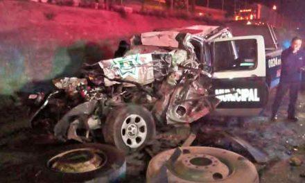 ¡Mueren tres policías municipales de Aguascalientes en un accidente tras una persecución!