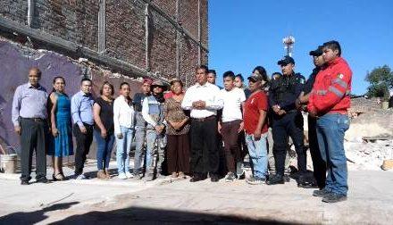 ¡Cuauhtémoc Escobedo apoyará a la familia dueña de la panadería que se derrumbó en Pabellón de Arteaga!