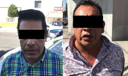¡Policías estatales de Aguascalientes detuvieron a 2 timadores con enervantes!