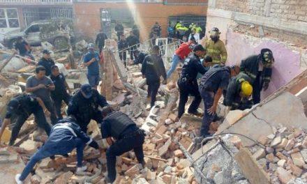 ¡Explosión provocó derrumbe de una panadería en Aguascalientes: 1 lesionada!