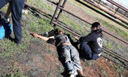 ¡Ladrón se salvó de morir electrocutado al intentar robar cableado de un poste de luz en Aguascalientes!