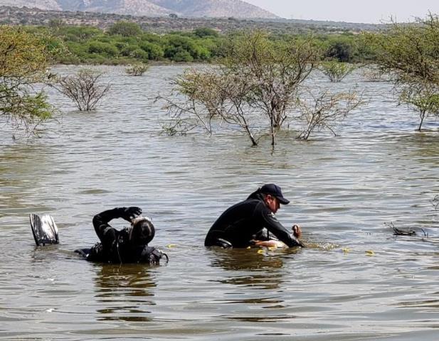¡Ya fue rescatado el cuerpo del joven que se ahogó en una presa en Aguascalientes!