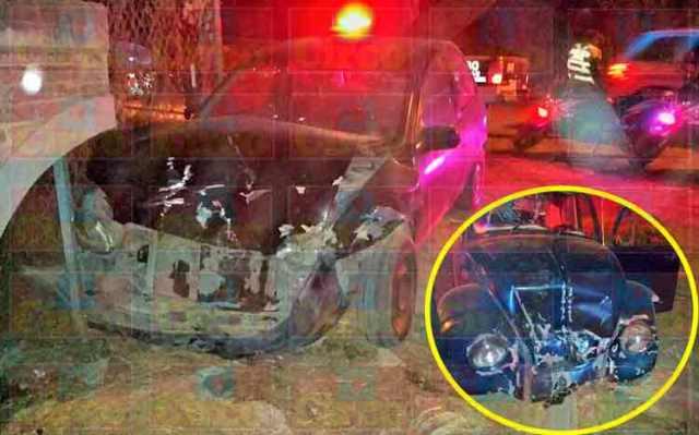 ¡Pareja resultó lesionada tras accidente vial en Lagos de Moreno!