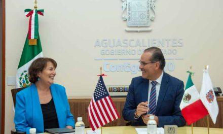 ¡Reconoce cónsul general de los EU en Guadalajara avances educativos, de seguridad y comerciales de Aguascalientes!