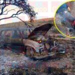 ¡Ejecutaron a 2 hombres, les dejaron un narco-mensaje e incendiaron una camioneta en Fresnillo!