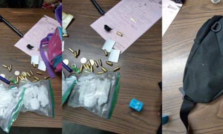 """¡Aseguraron droga """"crystal"""" y un arma de fuego en una cangurera en Lagos de Moreno!"""