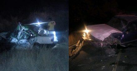 ¡Choque entre una camioneta y un taxi dejó 2 muertos y 2 lesionados en Aguascalientes!