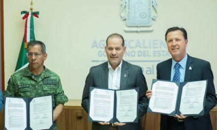 ¡Firma el gobernador carta de intención para la instalación y operación del bachillerato militarizado en Aguascalientes!