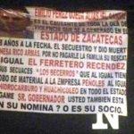 ¡Cuestionan en narco-mantas si el gobernador Alejandro Tello está en la nómina o es socio de una banda delincuencial!