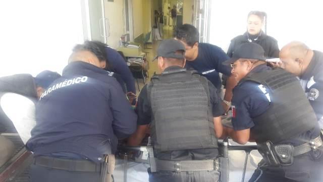 ¡Policías estatales de Aguascalientes auxiliaron a sexagenario lesionado tras accidente en Betulia, Jalisco!