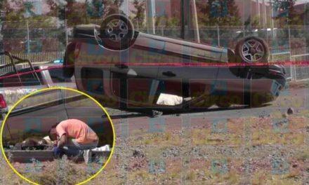 ¡Joven murió tras la volcadura de una camioneta en Fresnillo!