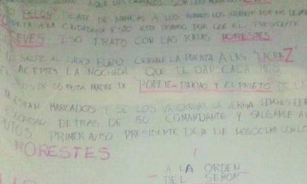 ¡Atacaron a balazos a policías municipales y dejaron 6 narco-mantas en Jerez!
