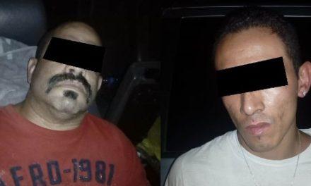 """¡Capturaron a 2 sujetos con medio kilo de """"crystal"""" en Calvillo, Aguascalientes!"""