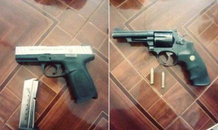 ¡Detuvieron a 4 sujetos con 2 armas de fuego en Fresnillo!