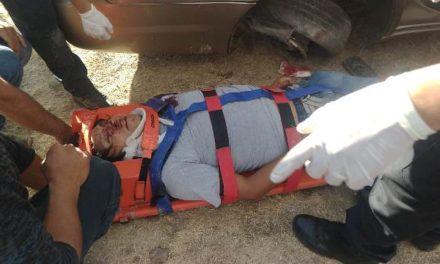 ¡Joven automovilista lesionado tras ser embestido por el tren en Aguascalientes!