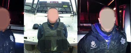 ¡Tras enfrentamiento detuvieron a 4 sujetos con 2 armas de fuego largas en Calera!