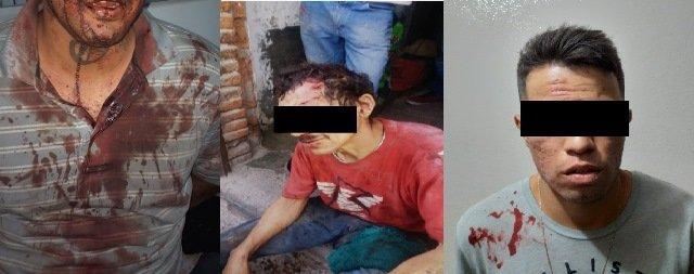 ¡Tras sangrienta riña detuvieron a 3 sujetos en Calvillo, Aguascalientes!