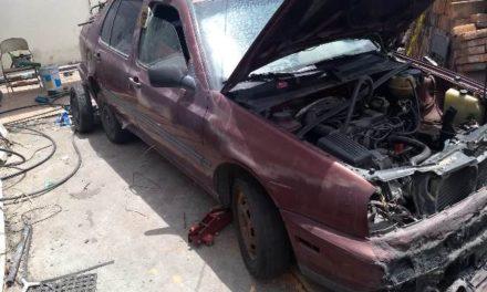 ¡La Fiscalía de Aguascalientes cateó un predio donde se guardaban vehículos robados!