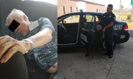 ¡Adulto mayor fue atacado por cientos de abejas y policías estatales de Aguascalientes lo rescataron!