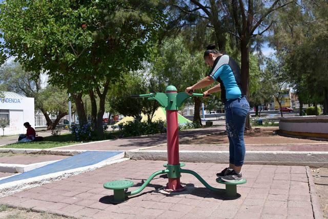 ¡En el Municipio de Aguascalientes más de 100 espacios públicos cuentan con gimnasio al aire libre!