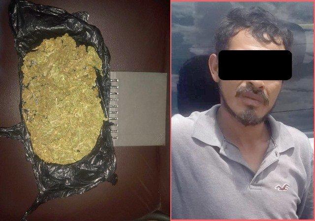 ¡Detuvieron a sujeto con casi medio kilo de marihuana en Aguascalientes!