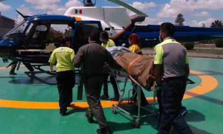 ¡Traslada el helicóptero Águila 1 a Guadalajara a lesionado por quemaduras en un incendio en Aguascalientes!