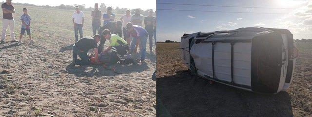 ¡Volcadura de una camioneta dejó dos lesionados, uno grave, en Aguascalientes!