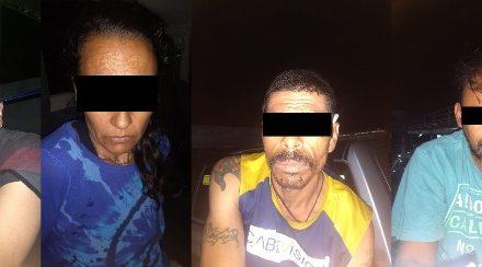 ¡Detuvieron a 3 sujetos y 1 mujer por privar de su libertad a una pareja en Aguascalientes!