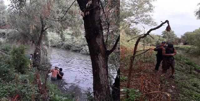 ¡Alcoholizado se metió al Río San Pedro y fue rescatado por policías municipales de Aguascalientes!