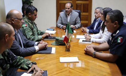 ¡Encabeza el gobernador primera reunión de coordinación operativa con la Guardia Nacional!