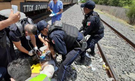 ¡Otro hombre perdió sus piernas tras ser atropellado por el tren en Aguascalientes!