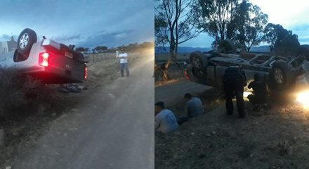 ¡Hombre falleció tras la volcadura de su camioneta en Aguascalientes!