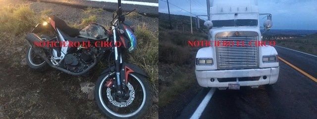 ¡Motociclista murió arrollado por un tráiler en Ojuelos!