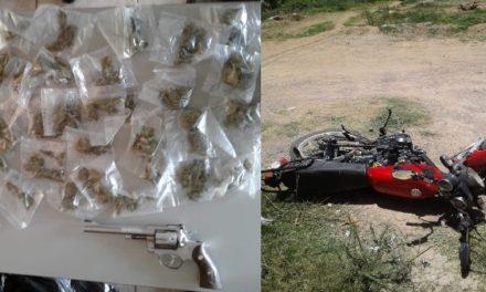 ¡Elementos de la PEP detuvieron a 2 sujetos con un arma de fuego y droga en Loreto!
