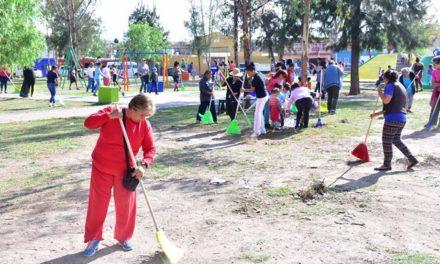 """¡Vecinos de Salto de Ojocaliente se suman al programa """"Todos Juntos Limpiemos Aguascalientes""""!"""