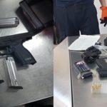 ¡Policías federales detuvieron en el aeropuerto de Calera a sujeto con un arma de fuego, cargadores y cartuchos!