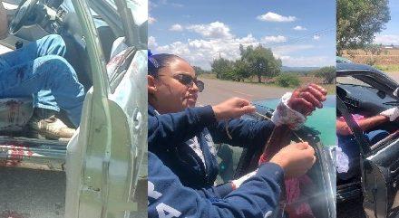 ¡Policías y paramédicos auxiliaron a hombre que intentó matarse cortándose las venas en Aguascalientes!