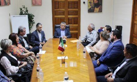 ¡Autoridades estatales se reúnen con nuevo Comité del SUTEMA!
