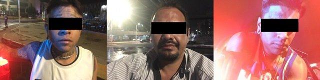 ¡3 asaltantes fueron capturados por policías estatales de Aguascalientes en Lomas del Chapulín!