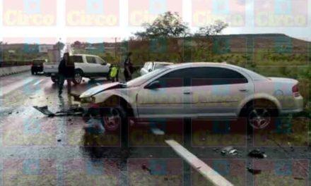 ¡Carambola entre 4 vehículos dejó 1 lesionado en Lagos de Moreno!