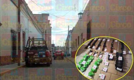 ¡Militares detuvieron a 9 sujetos y les aseguraron un arsenal y drogas en San Juan de los Lagos!