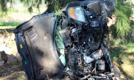 ¡Síndico de Teúl de González Ortega se salvó de morir tras accidentarse!