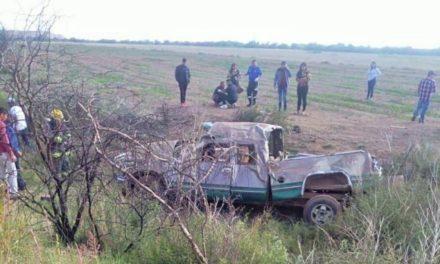 ¡Volcadura de camioneta dejó 7 lesionados en Guadalupe!