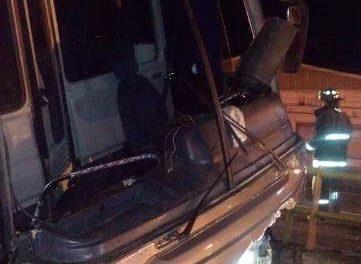 ¡Autobús con 38 peregrinos se estrelló contra el muro de un puente en Aguascalientes!